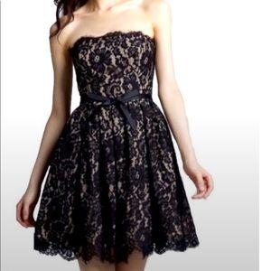 Robert Rodriguez  Sz 6  black strapless lace dress